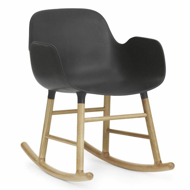 Form Rocking fauteuil Normann Copenhagen armleuning eiken zwart
