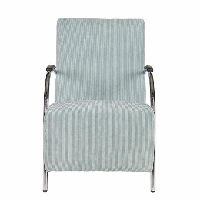 Halifax fauteuil Woood ribstof lichtblauw