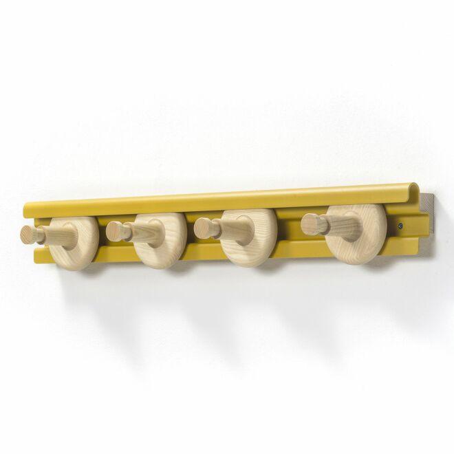 Wheels wandkapstok Van Esch 80cm - geel