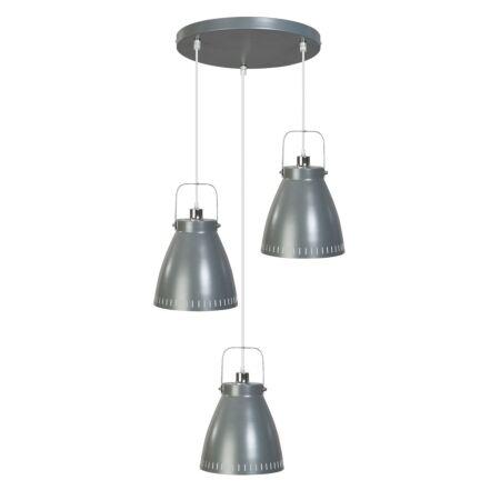 Acate hanglamp ETH 3x grijs/chroom rond - VERHUIS SALE