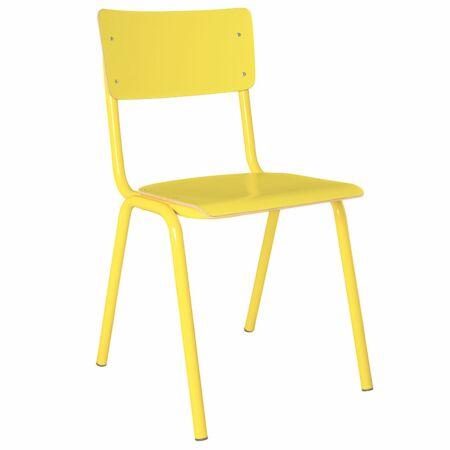 Back to School HPL eetkamerstoel Zuiver geel