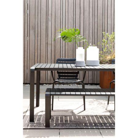 Vondel tuintafel Zuiver - Zwart 168x87cm