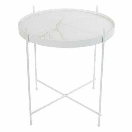 Cupid bijzettafel Zuiver marble wit