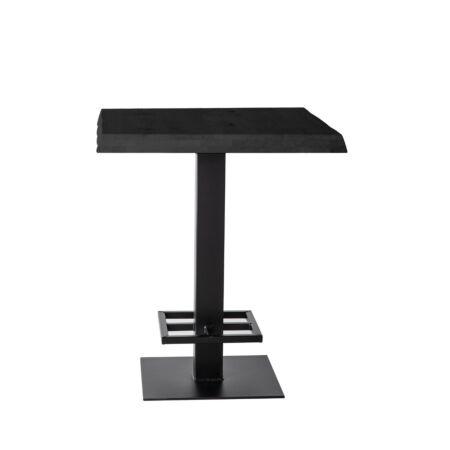 Countertafel Eleonora 80x80 - zwart