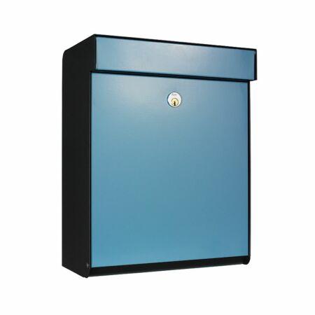 Grundform brievenbus Allux zwart - blauw