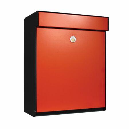 Grundform brievenbus Allux zwart - oranje