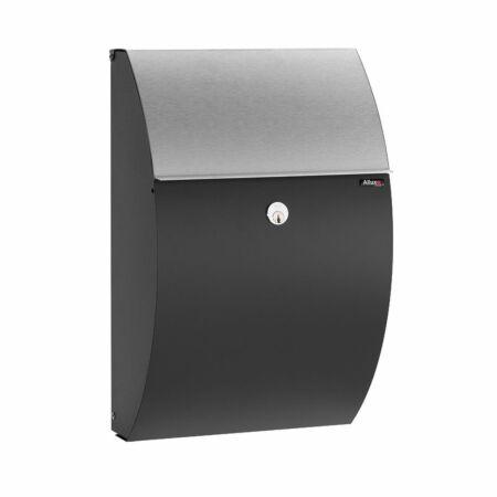 Type 7000 brievenbus Allux zwart - RVS briefklep