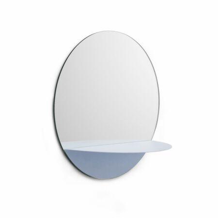Horizon spiegel Normann Copenhagen rond - lichtblauw
