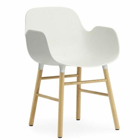Form Armchair stoel Normann Copenhagen eiken wit
