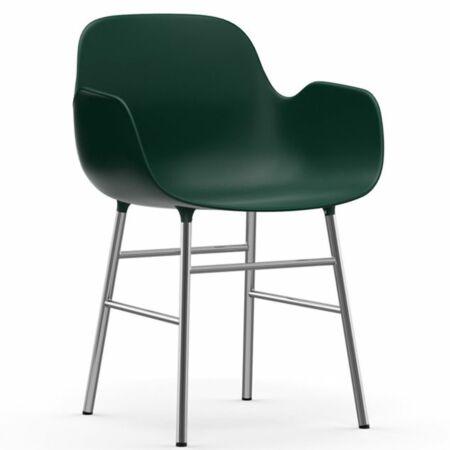 Form Armchair stoel Normann Copenhagen chroom - groen