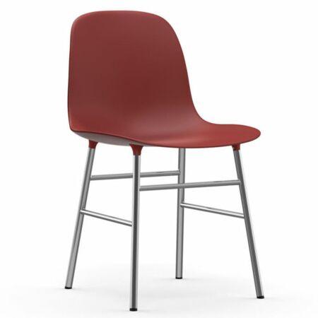 Form eetkamerstoel Normann Copenhagen chroom - rood