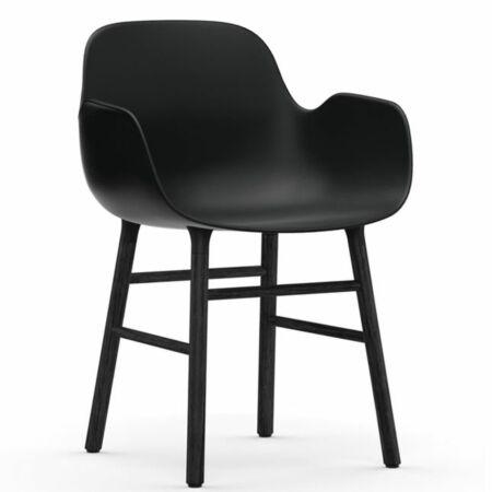 Form Armchair stoel Normann Copenhagen zwart eiken - zwart