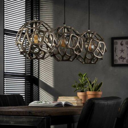 Bowl hanglamp Kay antiek nikkel