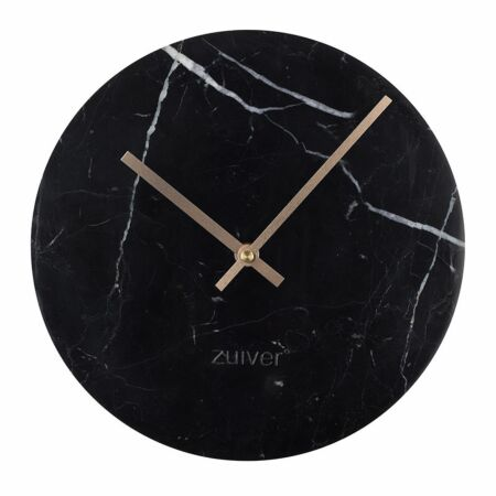 Marble Time klok Zuiver zwart