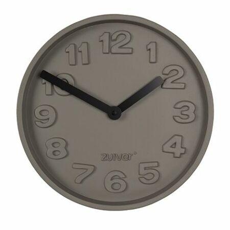 Concrete Time klok Zuiver zwart