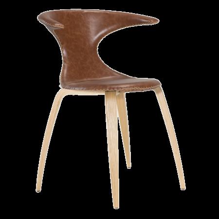 Flair eetkamerstoel Dan-Form eiken - cognac leder