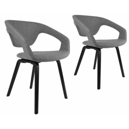 Flexback eetkamerstoel Zuiver grijs/zwart