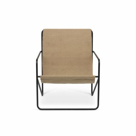 Desert loungestoel Ferm Living zwart - Solid