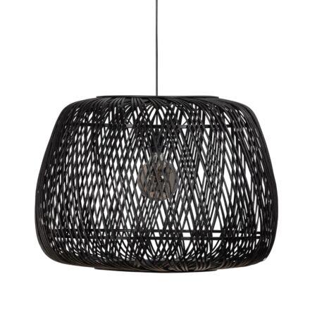 Moza hanglamp Woood exclusive - zwart Ø70