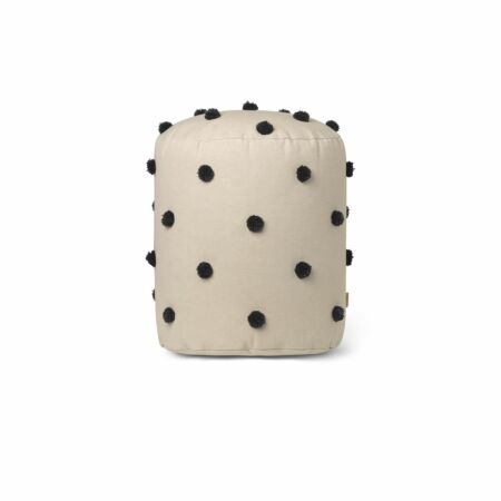 Dot Tufted poef Ferm Living zand
