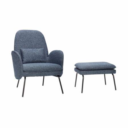 Donna fauteuil met voetenbank Hübsch