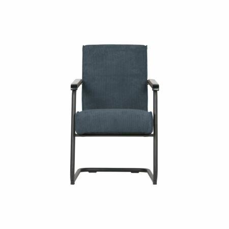Micha fauteuil Woood staalblauw