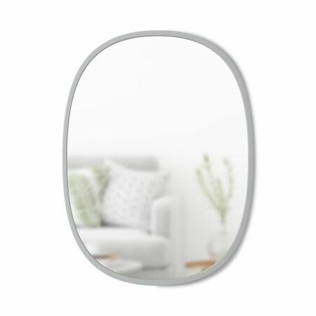 Hub spiegel Umbra ovaal grijs 46x61