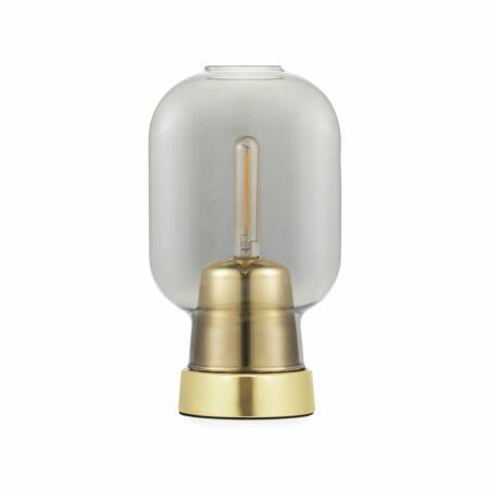 Amp tafellamp Normann Copenhagen gerookt messing
