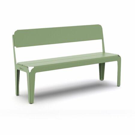 Bended tuinbank Weltevree rugleuning - groen