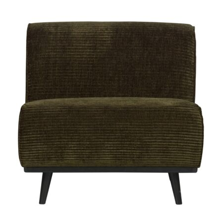 Statement 1-zits element BePureHome - Rib - Warm groen