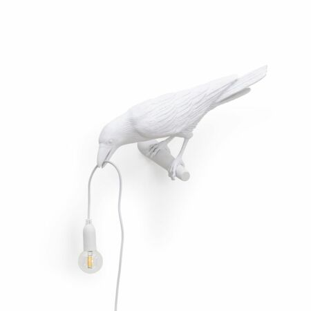Bird wandlamp Seletti kijkend wit
