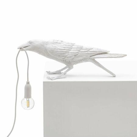 Bird tafellamp Seletti spelend wit