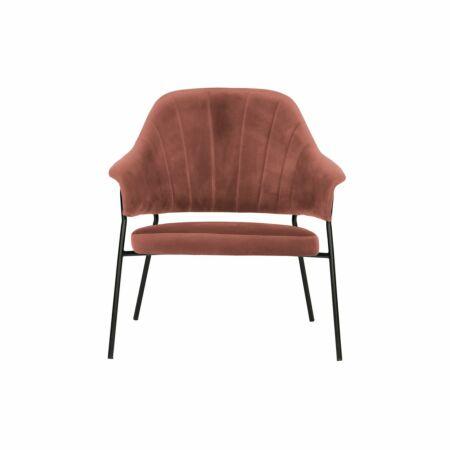 Bobby fauteuil Woood koraal