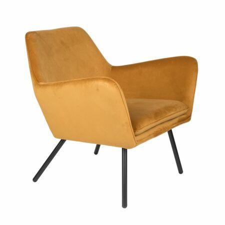 Bon fauteuil Luzo velvet goud