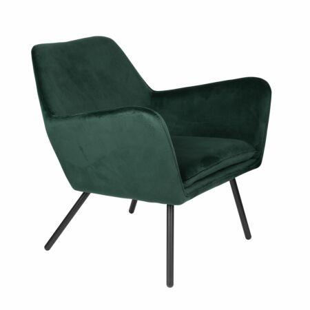 Bon fauteuil Luzo velvet groen