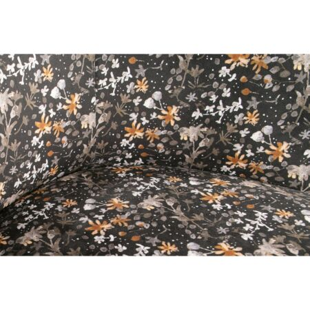 Vogue bank BePureHome 2-zits - fluweel - flower zwart