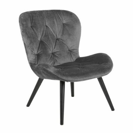 Bjorn fauteuil Liv velvet - grijs
