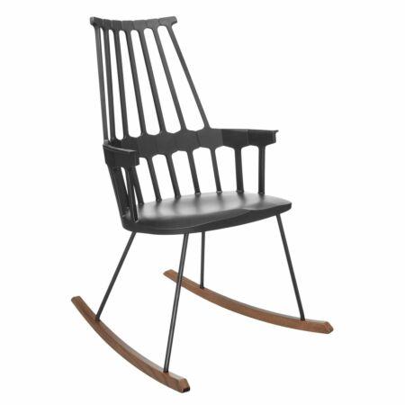 Comback schommelstoel Kartell zwart