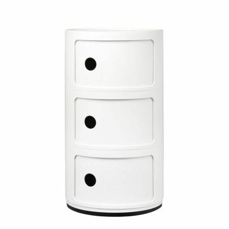 Componibili kast Kartell 3-deurs - wit