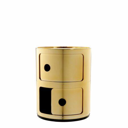 Componibili kast Kartell 2-deurs - goud