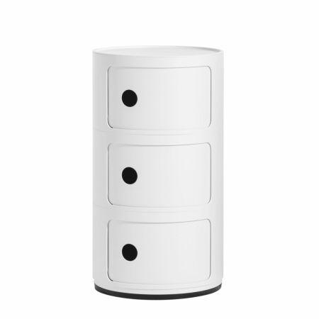 Componibili kast Kartell 3-deurs - mat wit