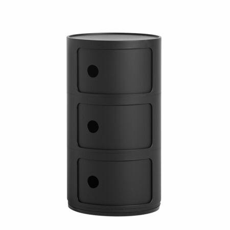 Componibili kast Kartell 3-deurs - mat zwart
