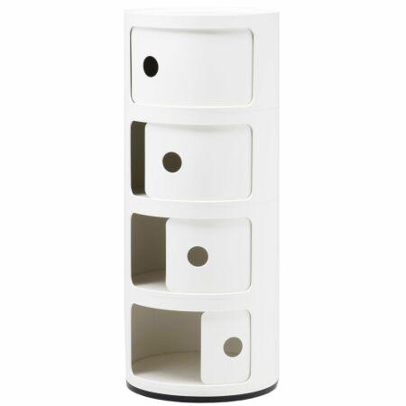 Componibili kast Kartell 4-deurs - wit