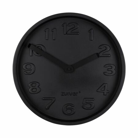 Concrete Time klok Zuiver volledig zwart