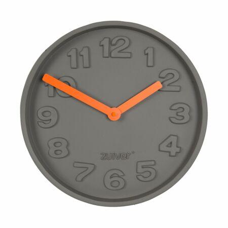 Concrete Time klok Zuiver oranje