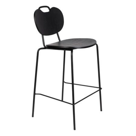 Aspen counterstoel Luzo - Hout zwart