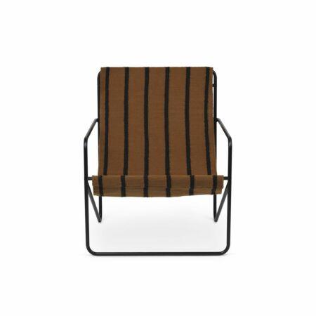 Desert loungestoel Ferm Living zwart - Stripes