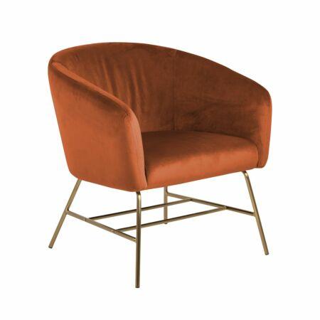 Dierick fauteuil Liv messing oranje