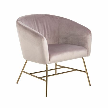 Dierick fauteuil Liv messing dusty rose