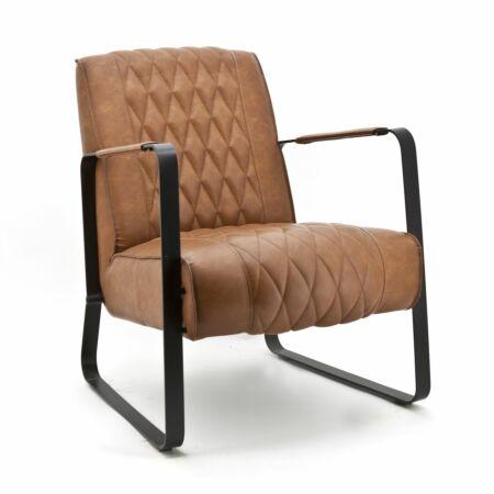 Caro fauteuil Eleonora cognac